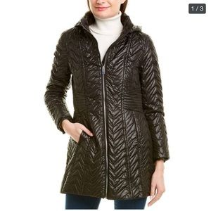 Via Spiga black quilted jacket size small